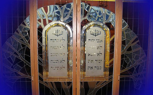 Congregation Kol Ami's ark. (courtesy)