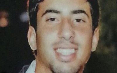 Sergeant Eitan Barak, 20, from Herzliya was killed Friday, July 18, 2014 during Israel's ground offensive into Gaza. (Photo credit: IDF Spokesperson's office)