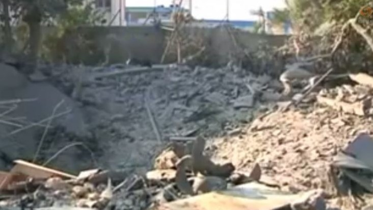 Images of destruction have come out the Shejaiya neighborhood after heavy fighting there (Screen capture: Reuters)