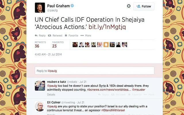 Screenshot of Graham's Twitter feed (screenshot)