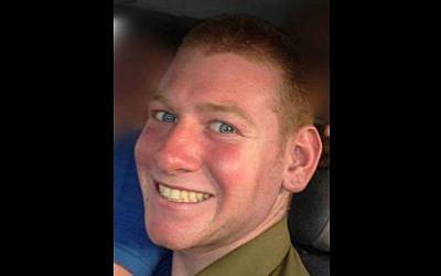 Staff Sgt. Guy Boyland, killed on July 25 in Gaza (Photo credit: Courtesy)