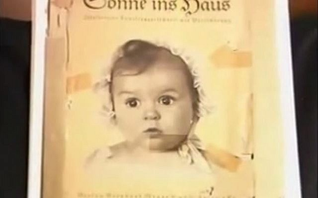 A photograph of Hessy Taft as a baby that was used by the Nazi's as an example of an ideal Aryan baby. (screen capture:YouTube/USC Shoah Foundation)