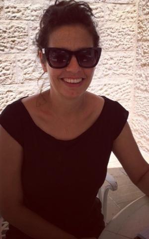 Shira Geffen at the International Jerusalem Film Festival (Jordan Hoffman/The Times of Israel)