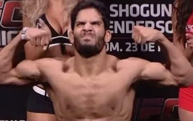 Israeli UFC fighter Noad Lahat. (screen capture, YouTube)
