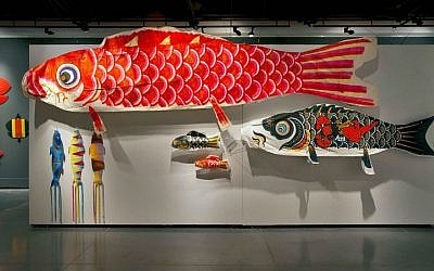 Fish kites at the Eretz Israel Museum (photo credit: Leonid Padrul)