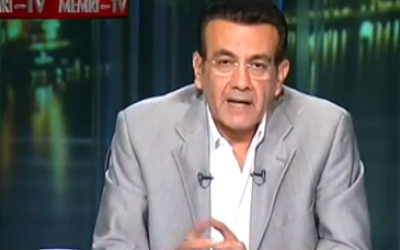 Egyptian Mehwar TV host Osama Mounir (photo credit: YouTube screen cap)