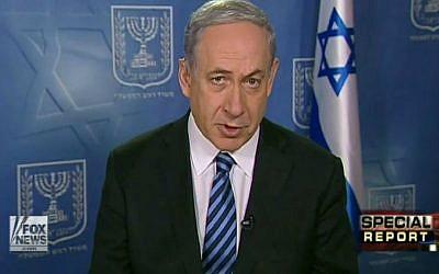 Prime Minister Benjamin Netanyahu. (screen capture: Fox News)