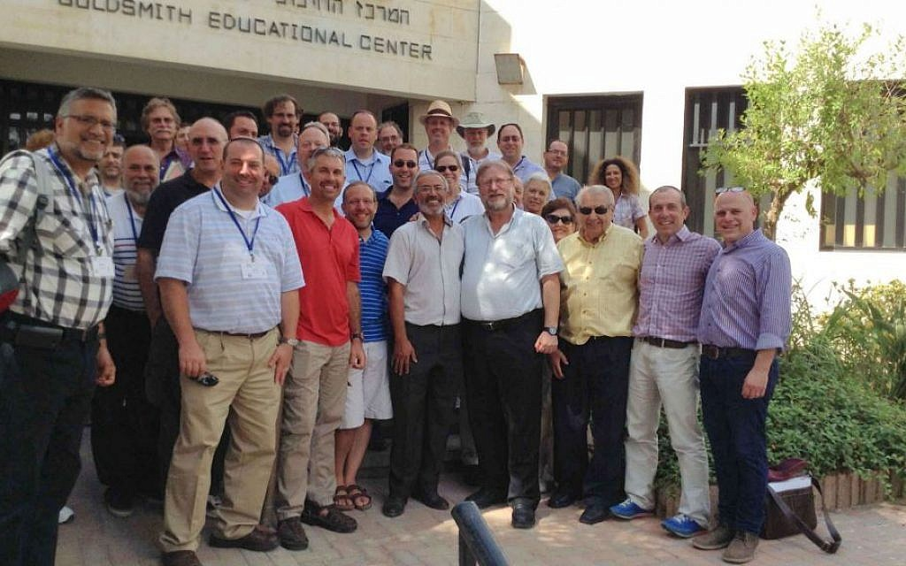 The Rabbinical Assembly/Masorti emergency mission on day one of their visit (courtesy)