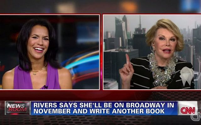 Joan Rivers getting defensive on CNN in July 2014. (YouTube screenshot)