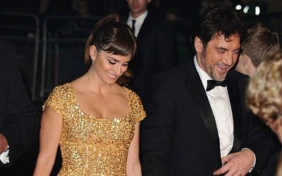 Penelope Cruz and husband Javier Bardem via Shutterstock.