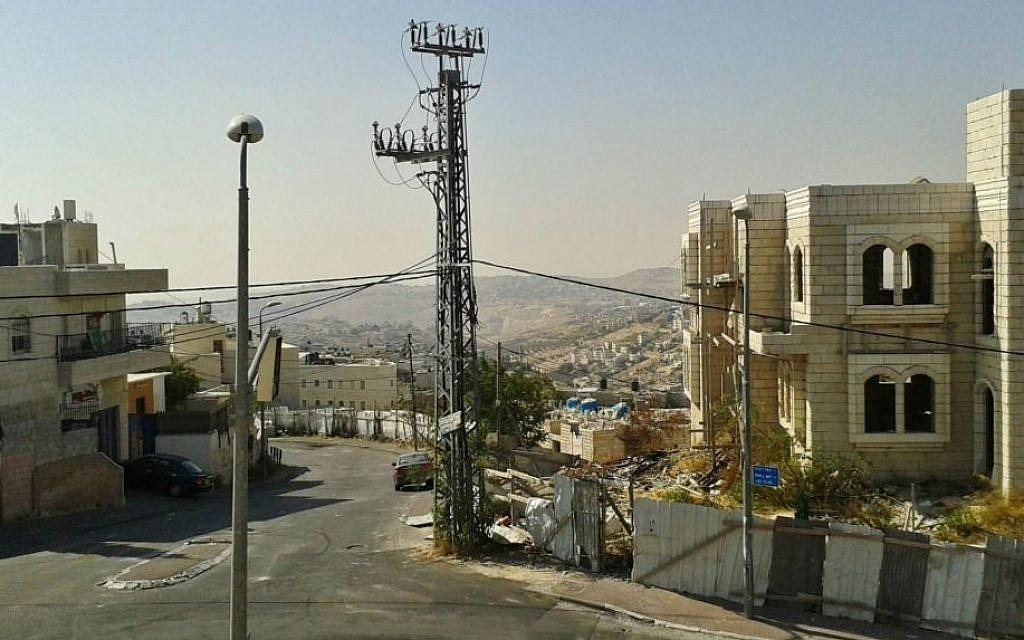 Looking down toward Jabel Mukaber from Meir Nakbar Street (photo credit: Simone Somekh/Times of Israel)