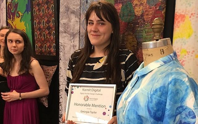 Georgia Taylor, one of the winners of the Kornit-FIT challenge (Photo credit: Courtesy