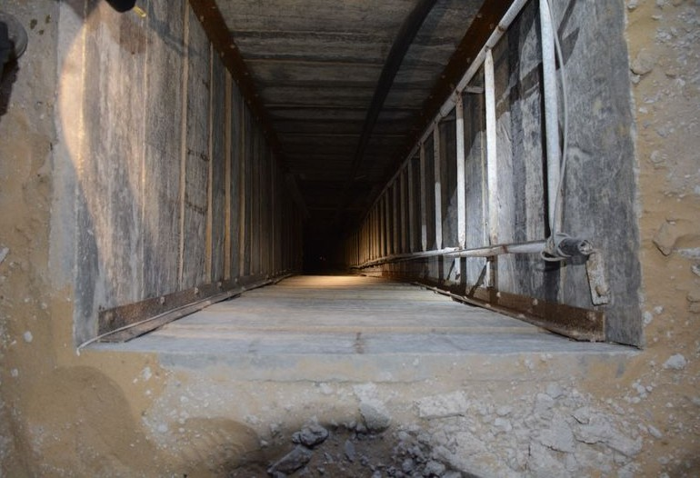 Illustrative photo of a tunnel opening discovered by the IDF in Gaza, July 20, 2014. (photo credit: IDF)