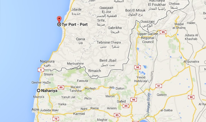Google Map Israel on