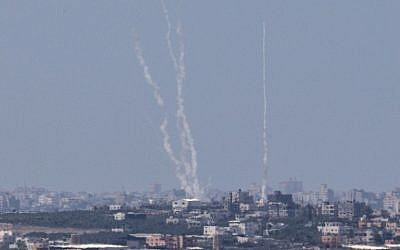 Israel bomb Palestine Gaza strip in retaliation to 'red siren' attack