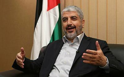 Hamas chief Khaled Mashaal in the Qatari capital of Doha, on August 10, 2014. (AFP/al-Watan Doha/Karim Jaafar)