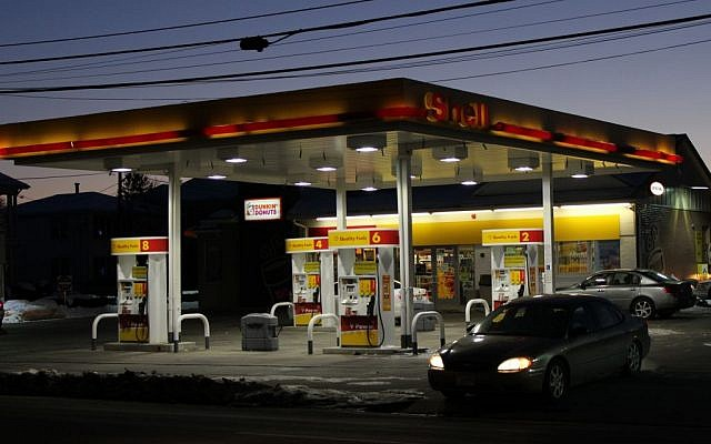 A Shell gas station in Rhode Island. Illustrative photo unrelated to the article. (photo credit: CC BY-SA, Matt Cloutier, Flickr)