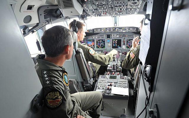 A US intelligence, surveillance and reconnaissance flight aboard a P-8A Poseidon in July, 2014. Illustrative photo. (photo credit: 1st Class David Kolmel/US Navy)