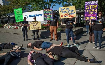 Jewish Voice for Peace protest against Boeing in Seattle in 2014. (Alex Garland Photography)