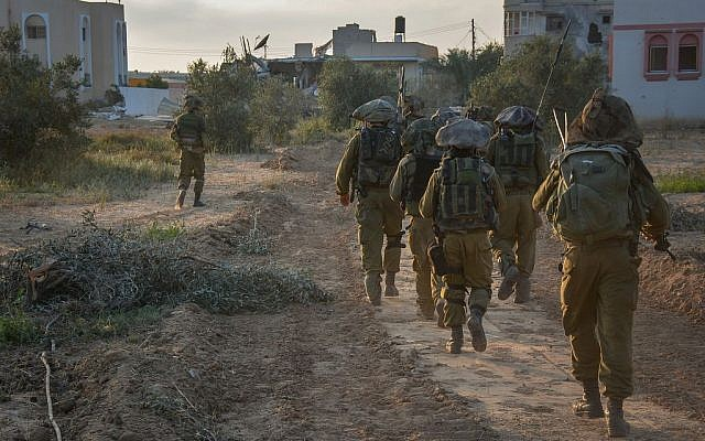IDF soldiers operating in Gaza, quite likely led by an officer (photo credit: IDF Spokesperson's Unit/ Flickr)