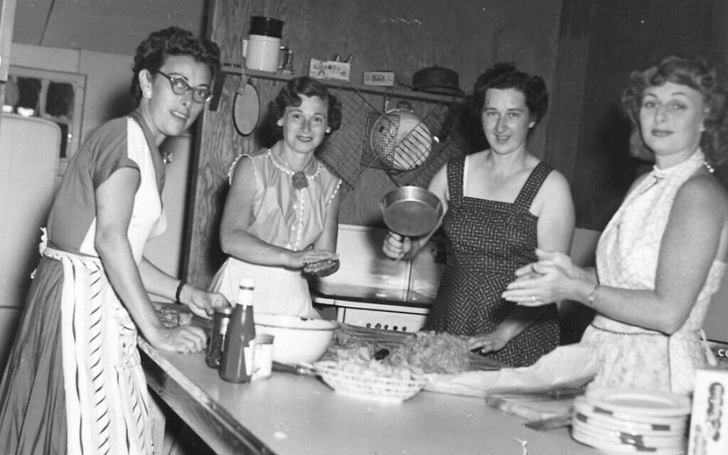 Illustrative: In the 1950s, during the heyday of this Catskills bungalow colony, 10 women shared the single kitchen. (Courtesy Paula Goldberg via JTA)