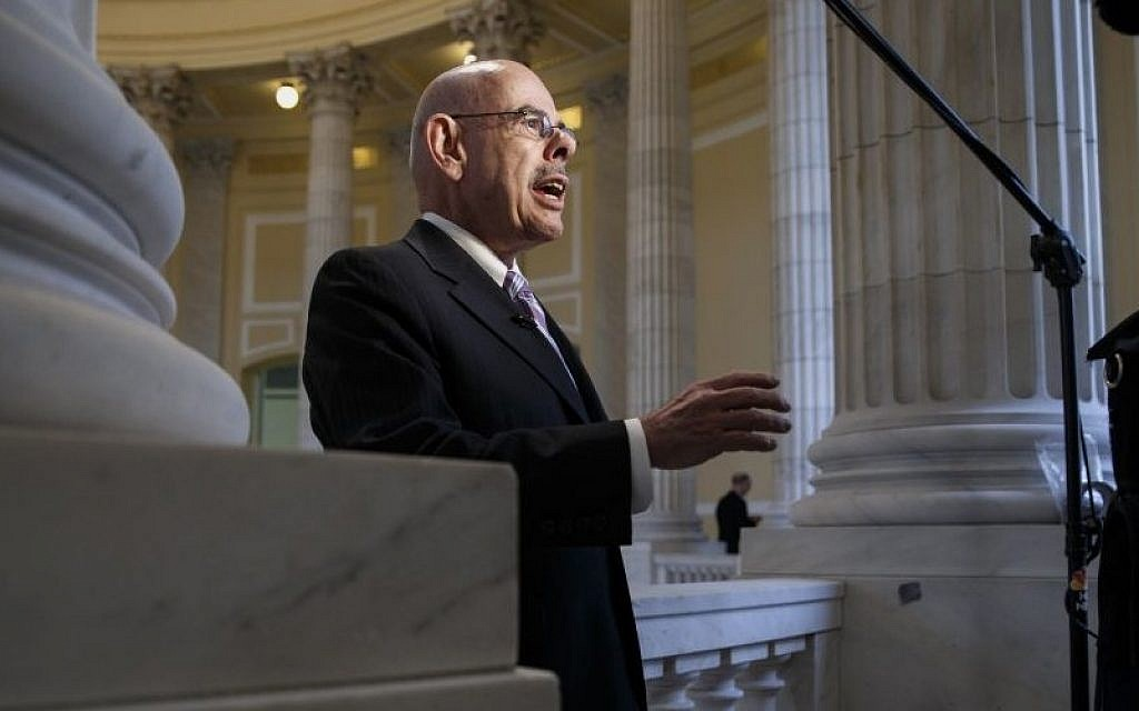 Democratic Rep. Henry Waxman of California defends President Obama's health care law during a TV news interview on Capitol Hill in Washington, Wednesday, Feb. 5, 2014. (photo credit: AP/J. Scott Applewhite)