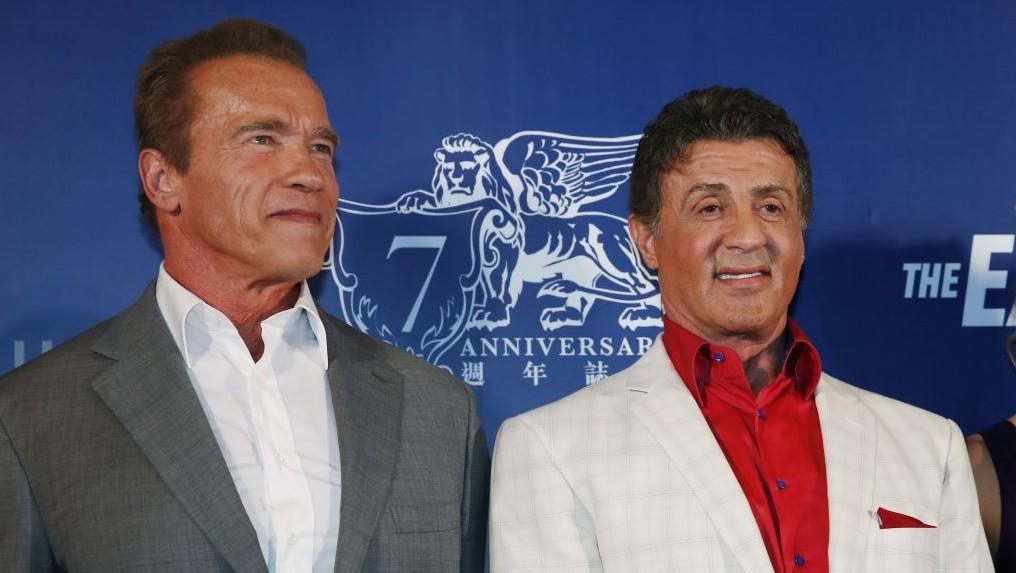 Stallone, Schwarzenegger lead Hollywood assault on Hamas ...  Stallone, Schwa...
