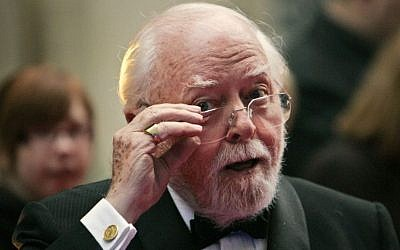Acclaimed actor and Oscar-winning director Richard Attenborough, whose film career on both sides of the camera spanned 60 years, died on Sunday, Aug. 24, 2014. He was 90. (photo credit: AP Photo/Lefteris Pitarakis, File)