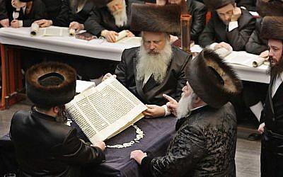 Hasidic men wear shtreimels and bekishes. (Illustrative photo: Dror Garti/Flash90)