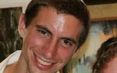 Lt. Hadar Goldin, 23 from Kfar Saba, killed in Gaza on August 1, 2014. (photo credit: AP Photo/ Ynet News)