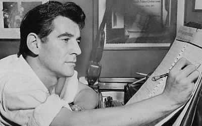 Leonard Bernstein at the piano, making annotations to a musical score in 1955 (Public Domain: Al Ravenna, World Telegram staff photographer - Library of Congress. New York World-Telegram & Sun Collection. http://hdl.loc.gov/loc.pnp/cph.3c27784)