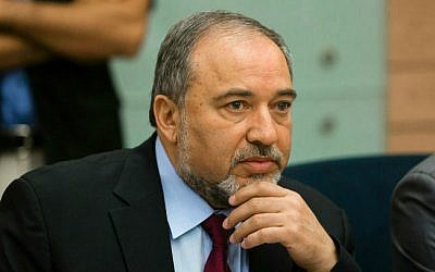 Foreign Minister Avigdor Liberman speaking at a meeting in the Knesset to discuss Operation Protective Edge, on August 4, 2014. (photo credit: Flash90)