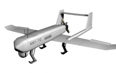 The Iranian Mohajer-4 drone, an updated version of which was revealed on August 24, 2014. (photo credit: Wikimedia Commons BY 3.0/Aspahbod)