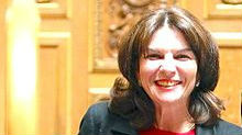 Nathalie Goulet, a member of the Senate of France (photo credit: Wikimedia Commons, CC BY 2.0/Téléversé par LaFayettePolitico)