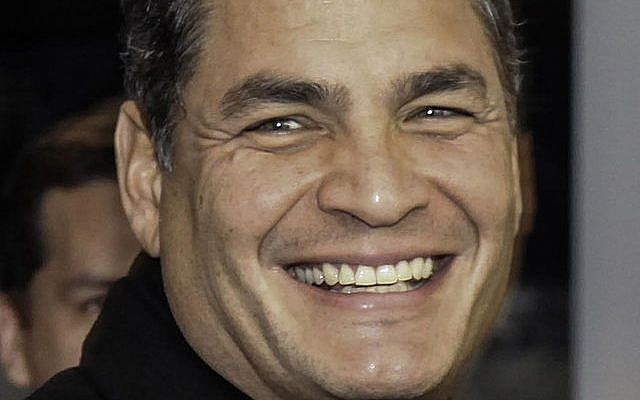 Ecuador's President Rafael Correa (photo credit: Russavia/Wikipedia)