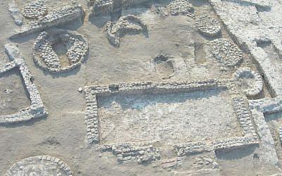 Ruins of the ancient village of Tel Tsaf. (photo credit: Prof. Yosef Garfinkel)