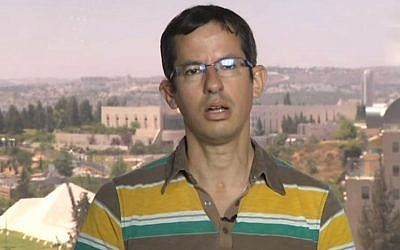 B'Tselem director Hagai El-Ad. (Screen capture: YouTube)