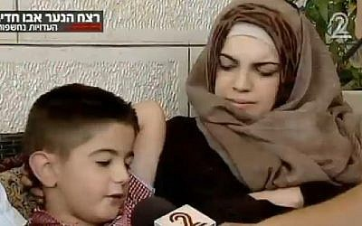 Moussa Zaloum recounts his attempted kidnapping by the suspects a day before they abducted and murdered Muhammed Abu Khdeir (Photo credit: Channel 2 screen capture)