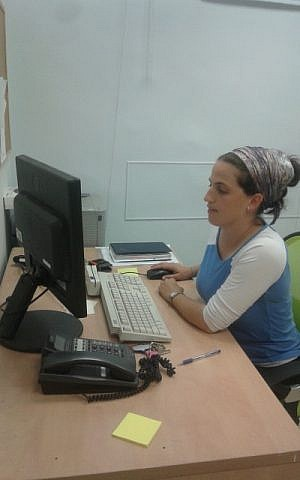 Ariella Perry at work. (photo credit: courtesy Ariella Perry)