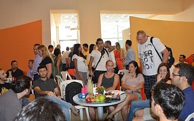 Some of the attendees at the Beersheba tech event (Photo credit: Courtesy)
