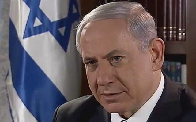 Prime Minister Benjamin Netanyahu speaks to Channel 2 on August 30, 2014 (Photo credit: Channel 2 screen capture)