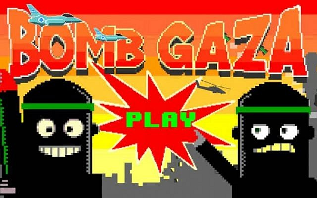 'Bomb Gaza' game invites users to 'drop bombs and avoid killing civilians'