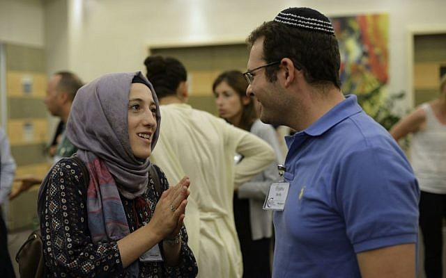 This year's fifth annual Muslim-Jewish Conference was the largest to date, with 100 participants coming from dozens of countries (photo credit: Daniel Shaked)