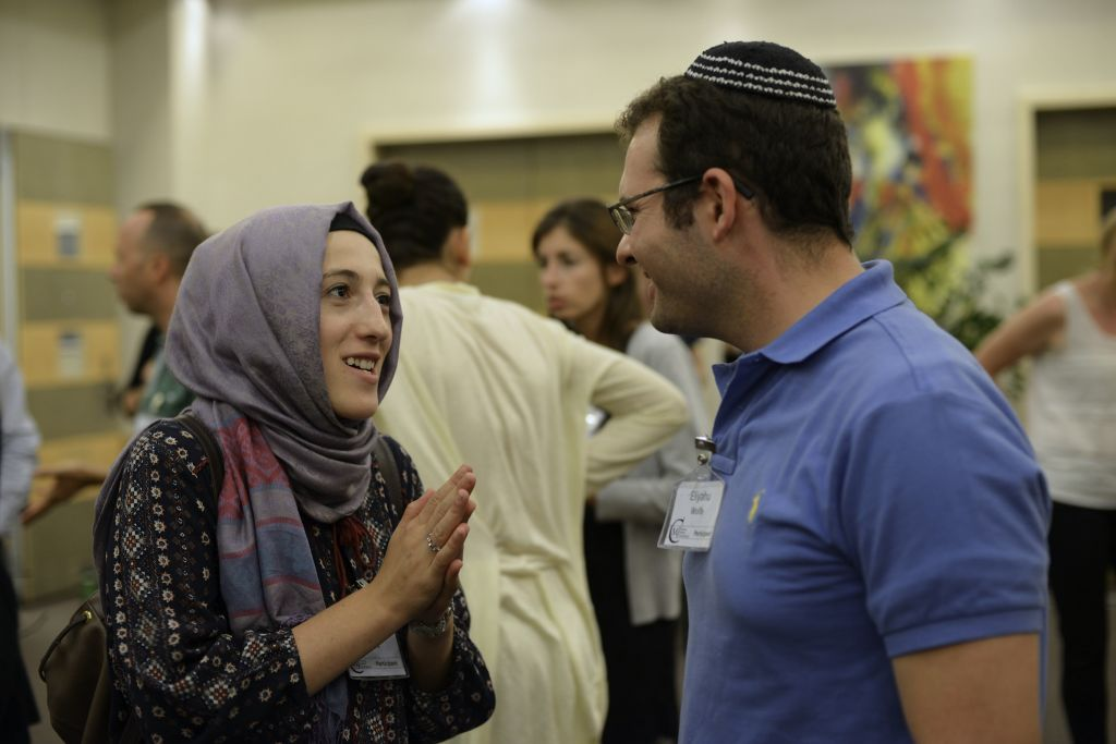 At the 2014 annual Muslim-Jewish Conference, the largest to date, with 100 participants coming from dozens of countries (photo credit: Daniel Shaked)