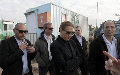Then opposition MK and current Justice Minister Tzipi Livni visiting the Gvaot settlement in December 2012. (photo credit: Lior Mizrahi/Flash90)