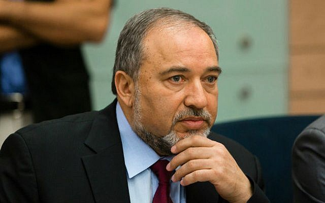 Foreign Minister Avigdor Liberman speaks during the Foreign Affairs and Security Committee meeting at the Knesset discussing Operation Protective Edge on August 4, 2014. (photo credit: Flash 90)