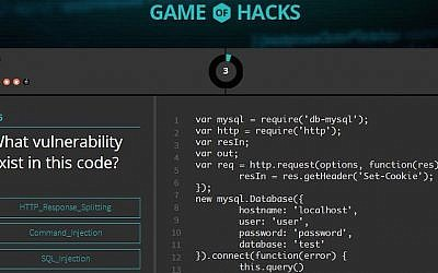 Game of Hacks screenshot (Photo credit: Checkmarx)
