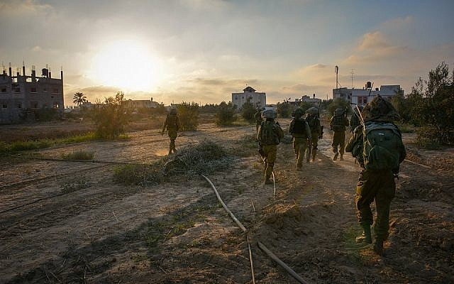 Israeli army troops operating in Gaza during Operation Protective Edge (IDF Spokesperson's Unit)