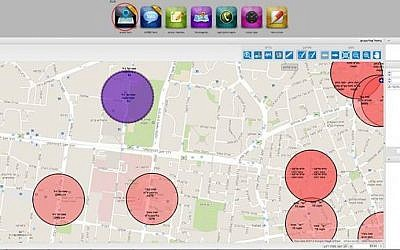 Web interface for OK2GO's location-based security system (Photo credit: Courtesy)