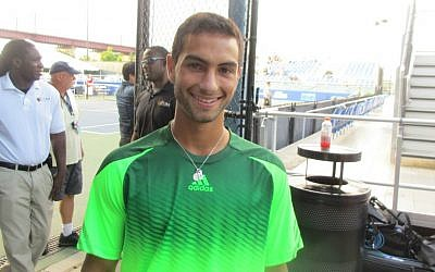 Teen tennis champ Noah Rubin at a August 21, 2014 benefit. (Howard Blas/The Times of Israel)